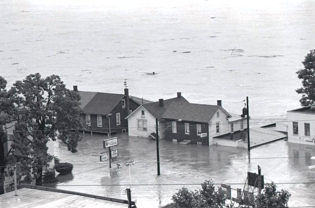B4 - Front Street in Wormleysburg 1972 Flood.