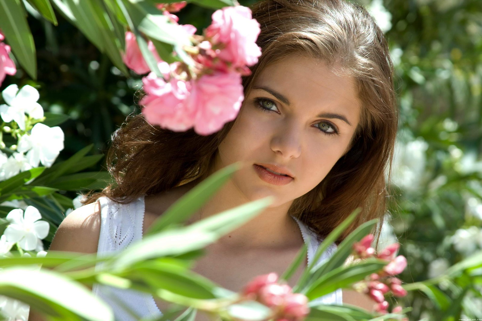 Beautiful Girls With Flowers HD Wallpapers