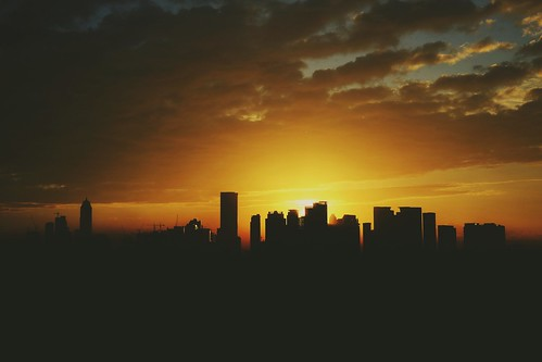 city urban sun skyline sunrise
