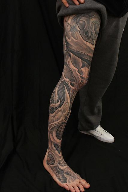 Biomech tattoo by Kali