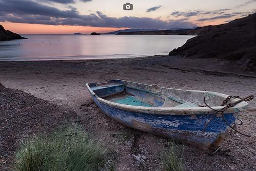 atardecer bolnuevo mazarrón murcia playa barca paisaje mar marmediterraneo sunset beach beachscape landscape spain sea canon80d canon1022 formatthitech filters clouds boat