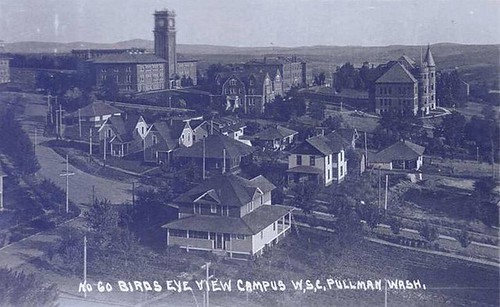 What buildings do you see in this 1915 aerial view of @WSUPullman campus? #ThrowbackThursday #TBT #WSU #GoCougs