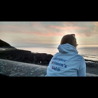 Watching the Clevedon sunset in my #lwvelo hoodie.
