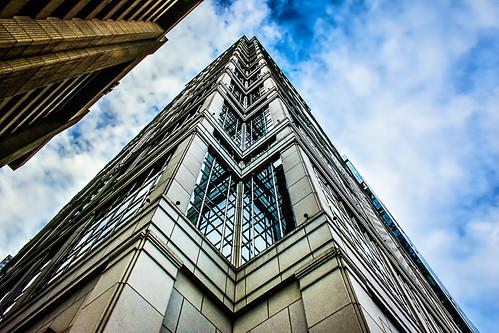 Corner of skyscraper Chicago GS-