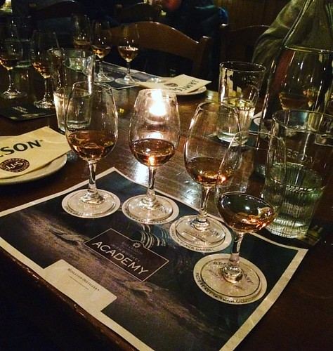 #latergram of the class tour of #jamesondistillery. We sat down to a unique four course pairing of whiskey and canapés. So many nummy nibbles. We all walked a way with a gratis bottle of their newest creation Jameson Caskmates which is whiskey aged in Mur   by The Abundant Kitchen
