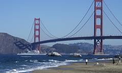In this file photo, USS Cape St. George (CG 71) transits under the Golden Gate Bridge during San Francisco Fleet Week 2015. (U.S. Navy/PO3 Dudley Reynolds)