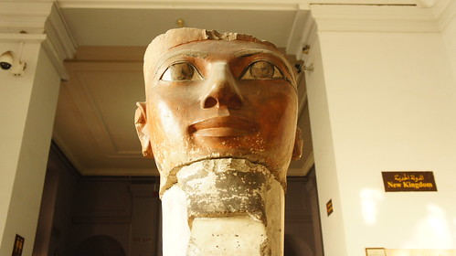 A part of an ancient Egyptian Queen Hatsheput statue at the Egyptian Museum of Cairo | by Kodak Agfa