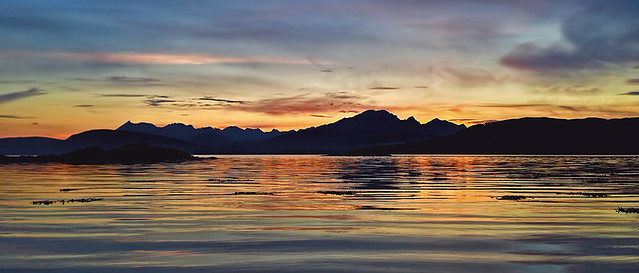 Sunset over the Black Cuillin's of Skye, Scotland.
