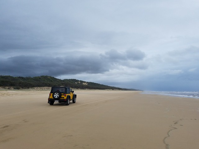 Jeep at Fraser Island