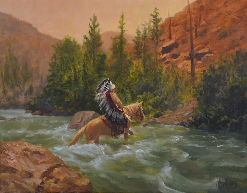 Bull Chief Crossing Rapids