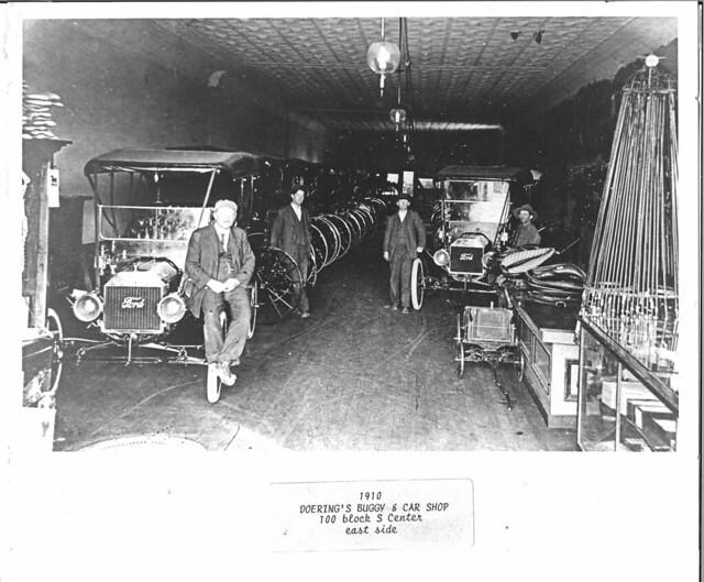1910 or so - Doering Buggy & Car Shop 100 Block S Center east side