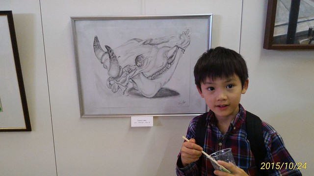 Host Brother Posing With My Drawing