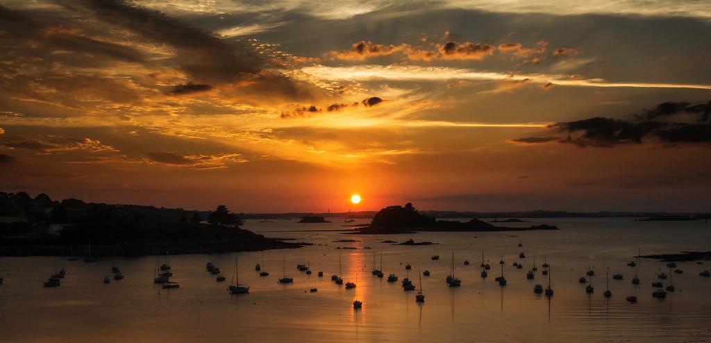 Sunset sur la Baie de Morlaix
