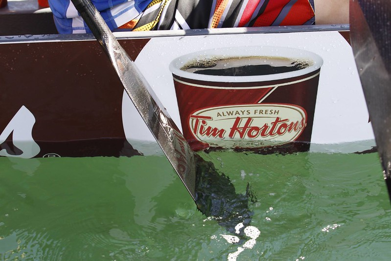 Tim Hortons dragon boat wrap vehicle graphics