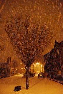 Snowfall in Dublin