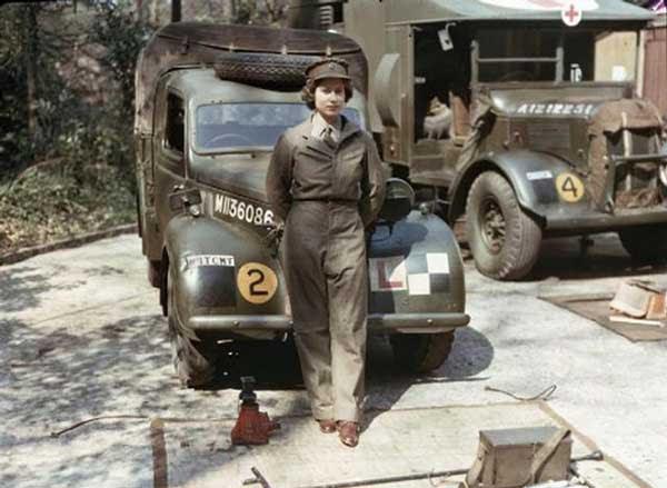 The Future Queen Elizabeth in 1945
