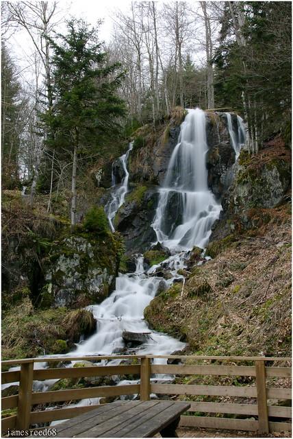 cascade d'andlau - hohwald (bas-rhin)