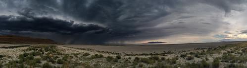 panorama usa lake storm beach nature weather landscape utah us sand unitedstatesofamerica antelopeisland greatsaltlake antelopeislandstatepark iphone5
