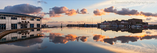 sunrise reflections islands guernsey channel castlecornet modelyachtpond