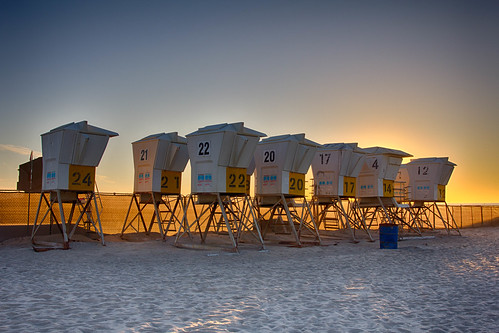 Mission Beach Lifeguard Towers Storage Lot | by Photos By Clark