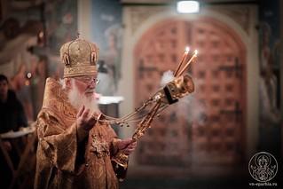 Великая вечерня в Иверском монастыре 250