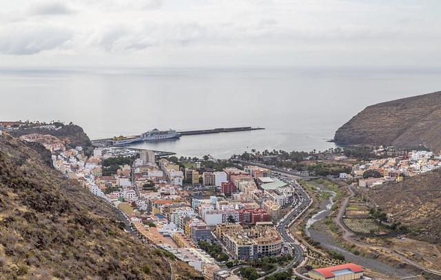 Sicht auf St. Sebastian de La Gomera