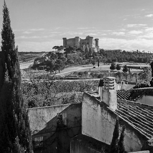 Belmonte, el Castillo desde la Colegiata.