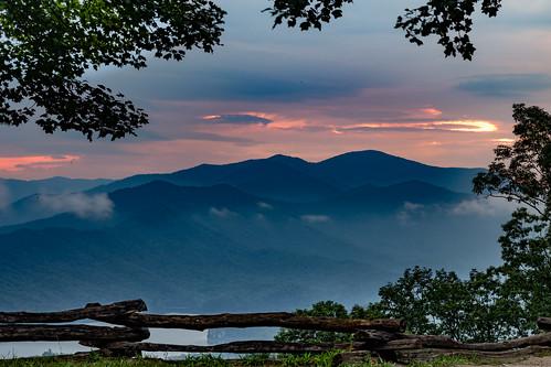 trees sky lake mountains water clouds forest sunrise canon dawn unitedstates northcarolina goldenhour blueridge greatsmokymountains moonshiner fontanadam us28 fontanalake eos6d