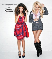 Pamela Anderson and Almadena Fernandez, Modeling for Zappos Couture and Vivienne Westwood for US Vogue.