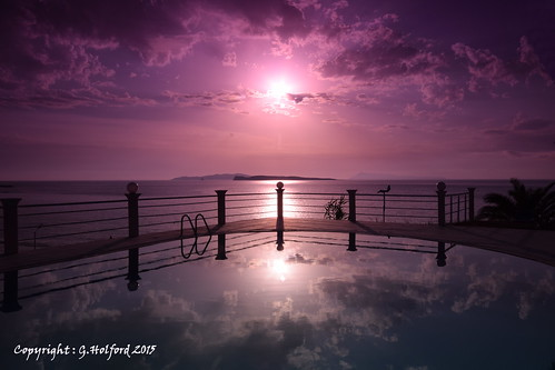sunset color colour reflection beauty purple greece filter corfu sanstefanos