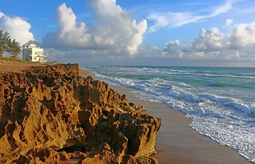 ocean sun sand rocks surf florida stuart atlantic hutchinsonisland