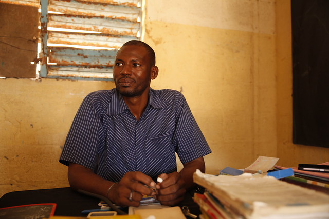 Teacher Amadou Diallo at L'Ecole PAC in Dakar, Senegal, has been trained in how to adapt his classes to cater for disabled children.