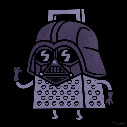 Darth Grater Now available as prints and stuff over at my society6 page (http://ift.tt/1YokyOb) #starwars #theforceawakens #darthvader #grater | by pilihp