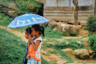 Girls Under Umbrella, Nam Nga Laos | by AdamCohn