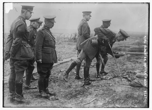 King Albert on Battle Field (LOC)