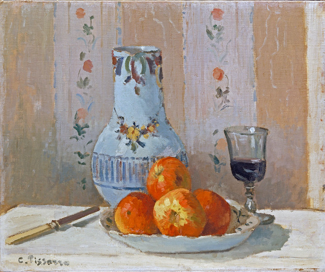 Camille Pissarro - Still Life, apples and pitcher [1872]