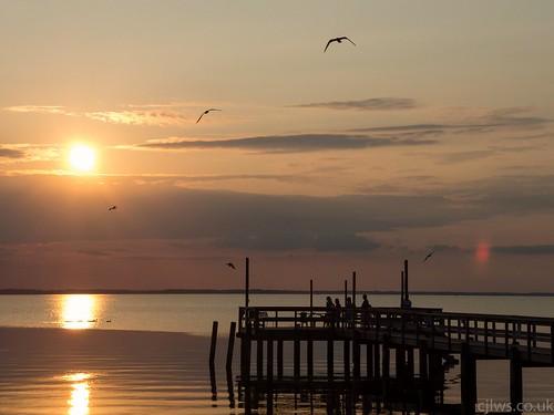 sunset pier duck nikon jetty north carolina cloudsstormssunsetssunrises p7700