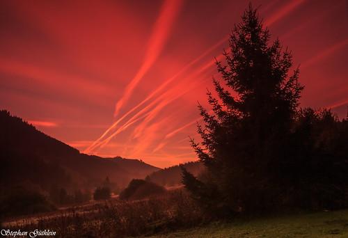 clouds sunrise germany deutschland thüringen wolken thuringia sonnenaufgang thüringerwald oberschönau thurigianforest