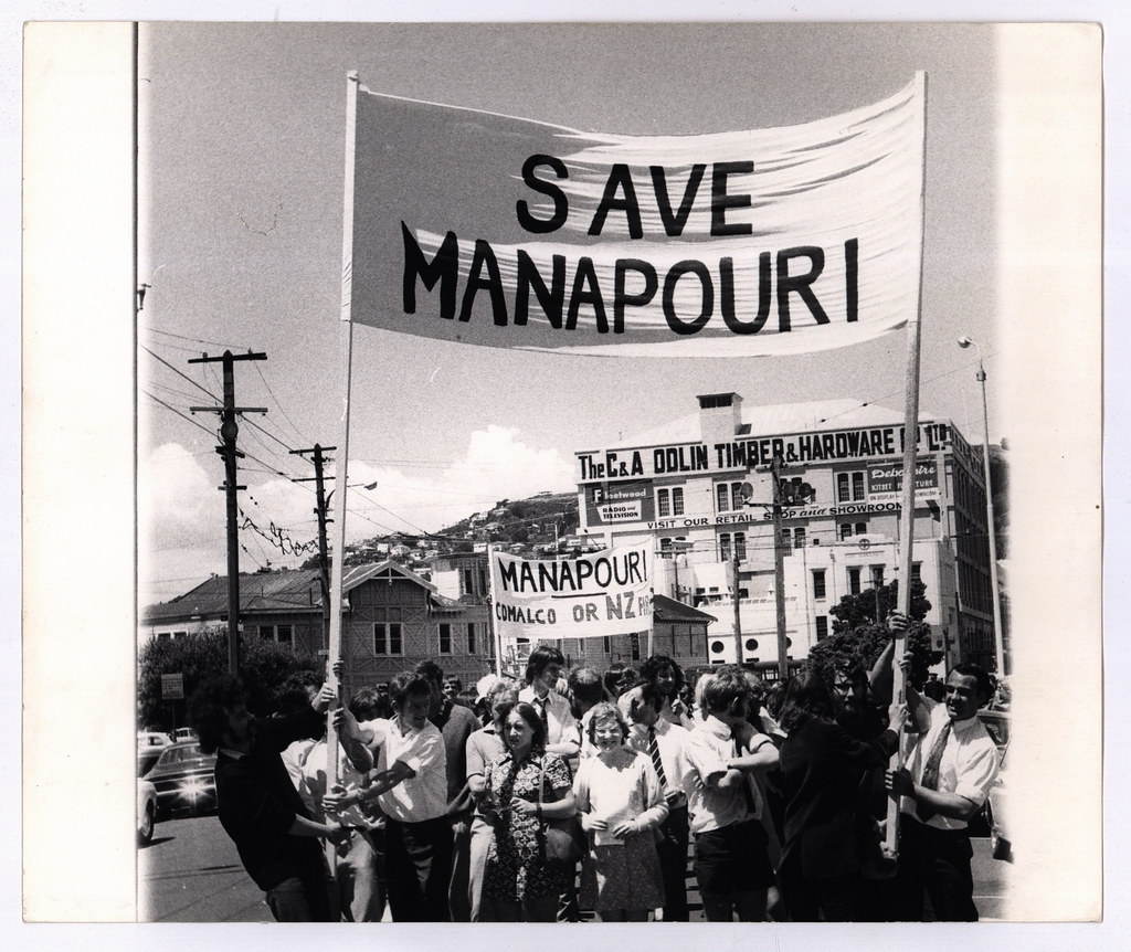 Image result for manapouri protest