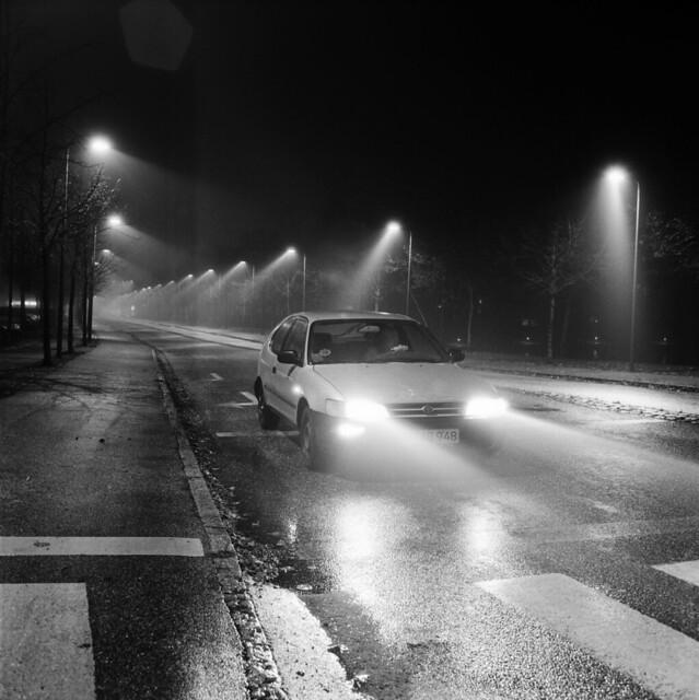 Kongevejen on a rainy Night