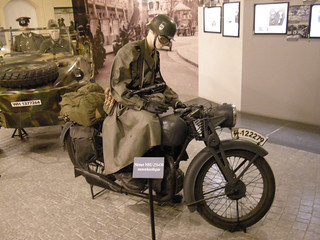 Motorcycle soldier on Hungarian Német NSU 251-OS