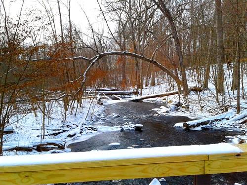 2017 usa creeks streams rivers snow woodland parks nct hike100nct michigan january winter