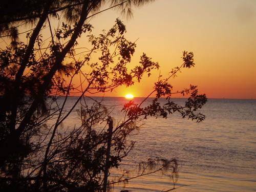 sunset gulf hudsonfl
