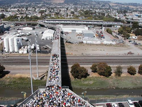 Crowded BART Bridge | by skew-t