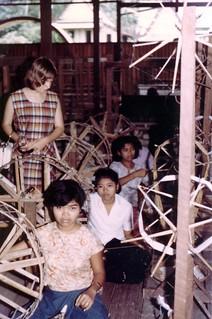 Thai silk factory