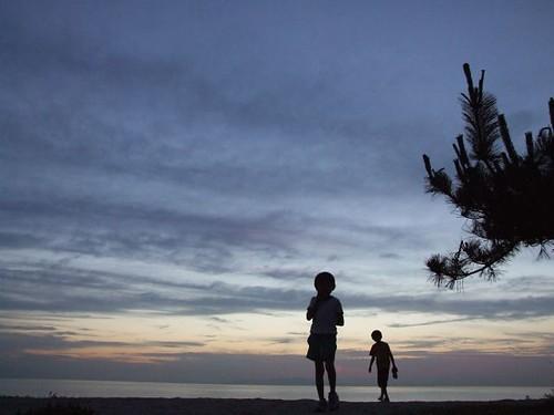 sunset sea sky silhouette japan backlight geotagged 日本 geolat343390117 geolon1347343789