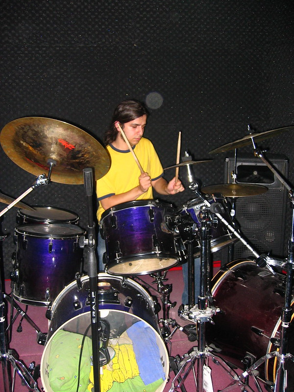 anil at the drums