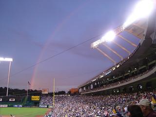 Rainbow Over Kauffman Stadium | by ilovemypit