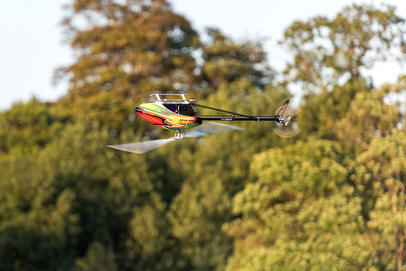 Dave flying his Align TREX700E.