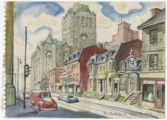 Rue Saint-Antoine et la gare Windsor - P825,S2,SS2_1954-1955_008